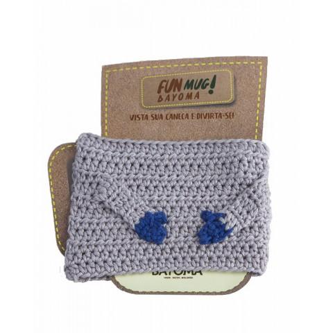 Roupa de Crochê para Canecas - Fun Mug Abraço - Sem Caneca